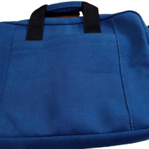 Pasta notebook em tecido de algodão tingido, na cor azul - 15.6